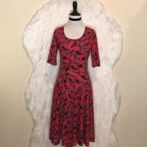 Lularoe Birds Print Dress